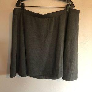 Gray Skater Skirt